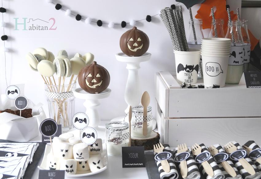 Mesa dulce para Halloween con party-kit diseño de Habitan2