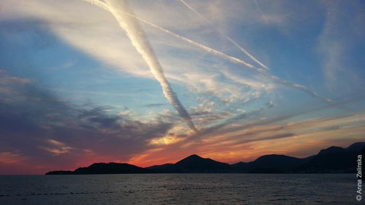 Красивый закат, Черногория