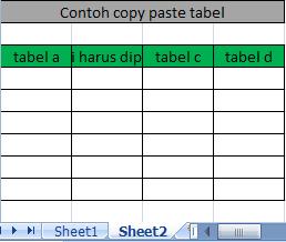 Cara Copy Paste pada Excel agar hasilnya sama