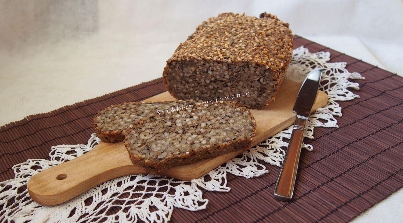 Chleb ze skiełkowanej kaszy gryczanej bezglutenowy