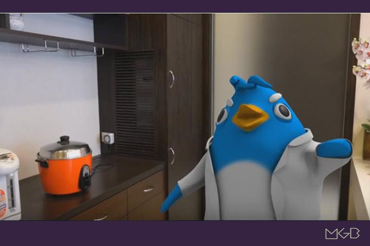廚房電器省電篇 3D企鵝動畫 H