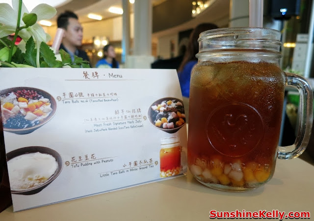 Meet fresh, dessert, drink, cooling drink, Winter Melon Tea with Mini Taro Balls,