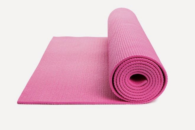 Picture of a pink yoga mat