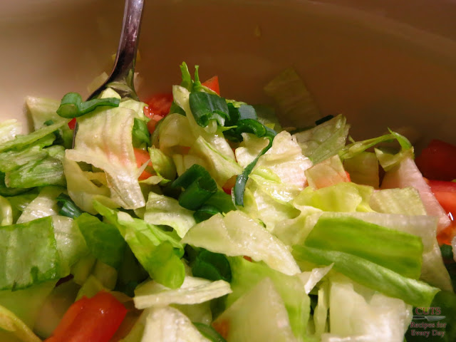 Salad with Scallions, Tomato, Lettuce, Dijon, Balsamic