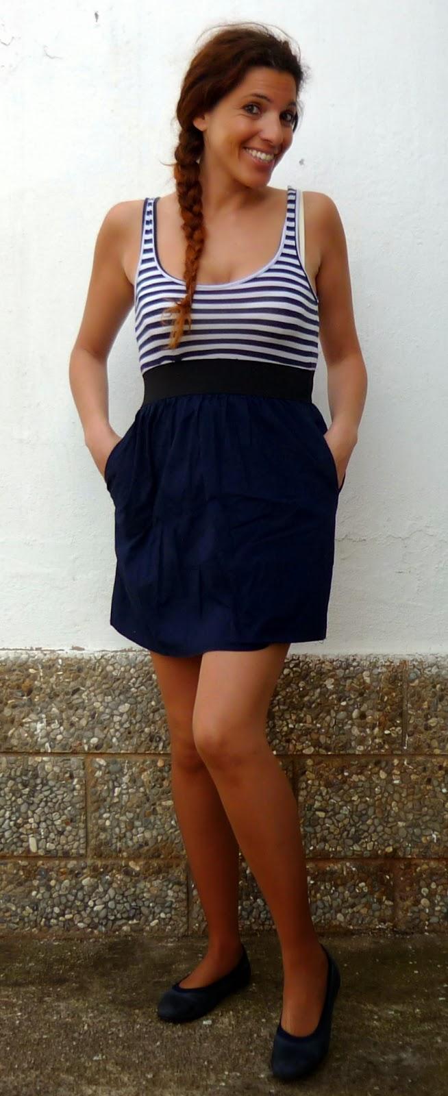 vestido marinero azul