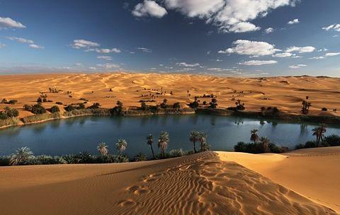 paisaje bello desierto
