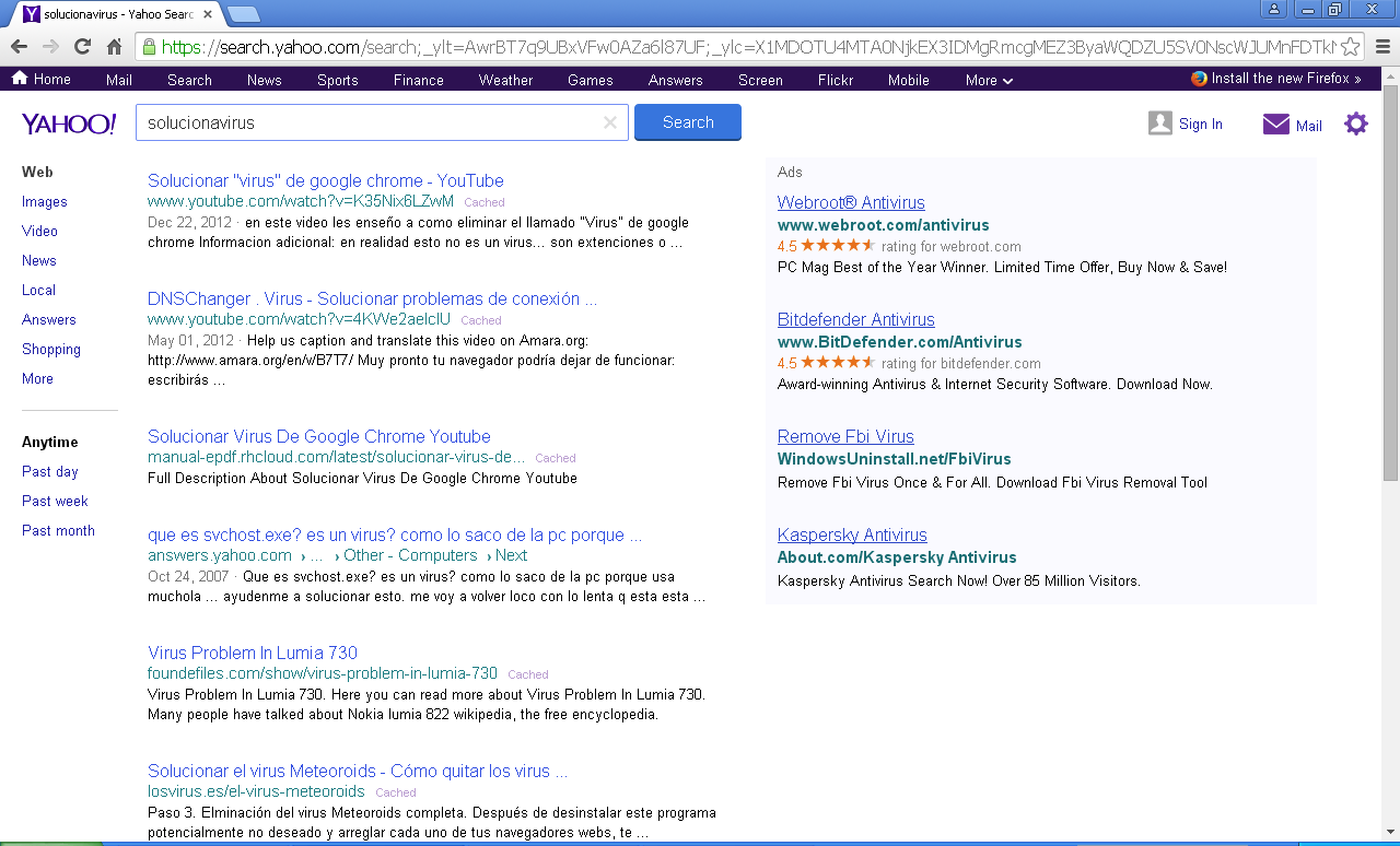 Search.yahoo.com Results
