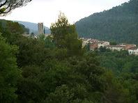 Sant Quirze Safaja des del camí del mas Torroella