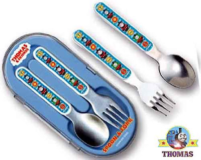 Pecoware Thomas the train engine and friends childrens spoon and fork cutlery set stylish utensils