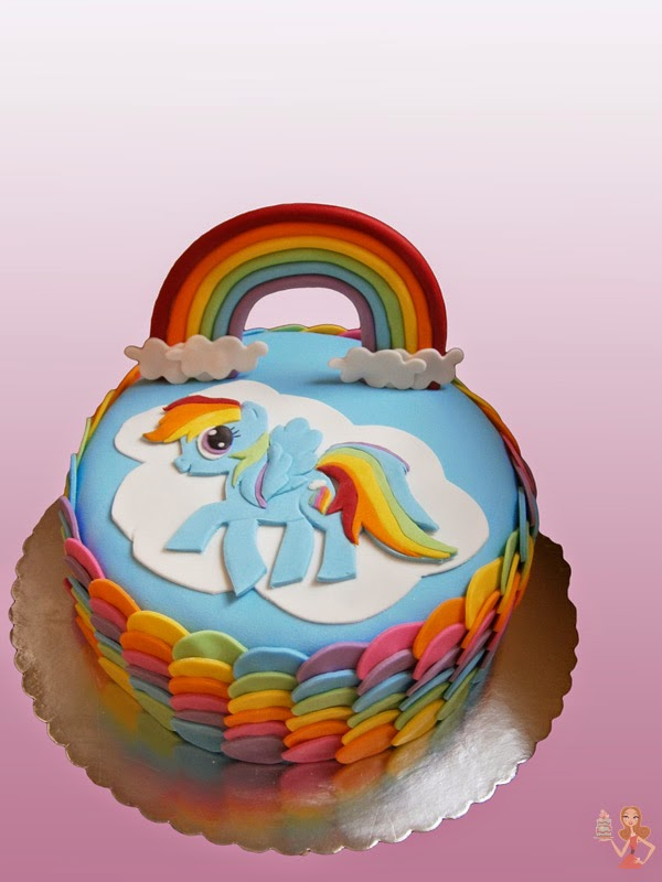 make me a cake my little pony rainbow dash cake tutorial
