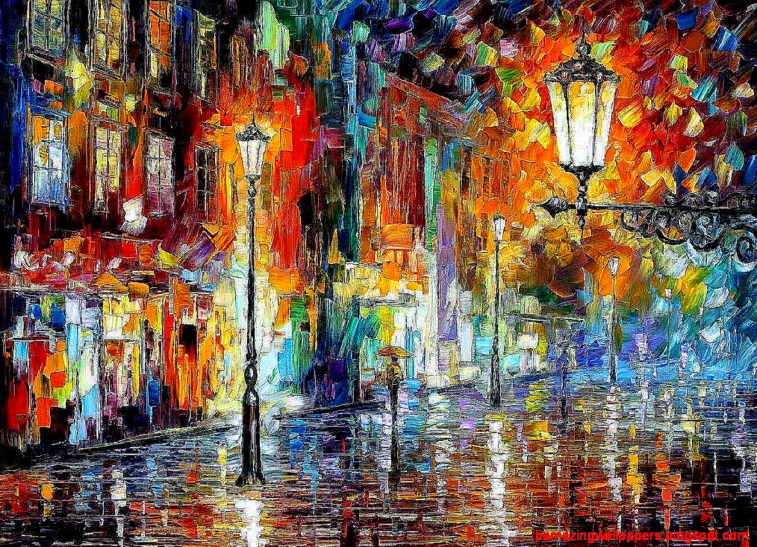 abstract city painting amazing wallpapers