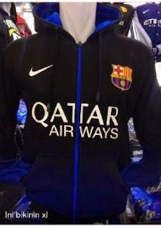 jual online jaket bola barcelona sweater hoodie musim depan