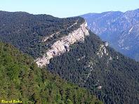 La Roca Tiraval des de la Carena de la Baga. Autor: Ricard Badia