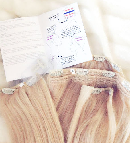 Dirty Looks Hair Extensions Review in Paparazzi Highlights Set