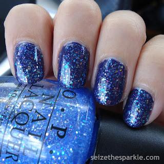 Opalescent Glitter Manicure