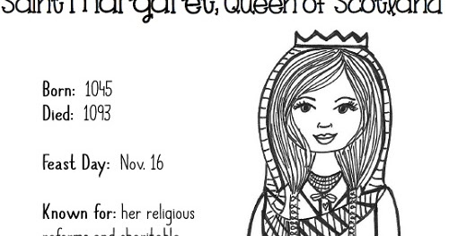 paper dali free catholic coloring page saint margaret of scotland printable