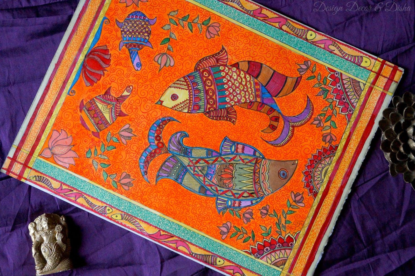 Design Decor Disha Indian Art Gallery Wall Madhubani Painting: home decor paintings for sale india