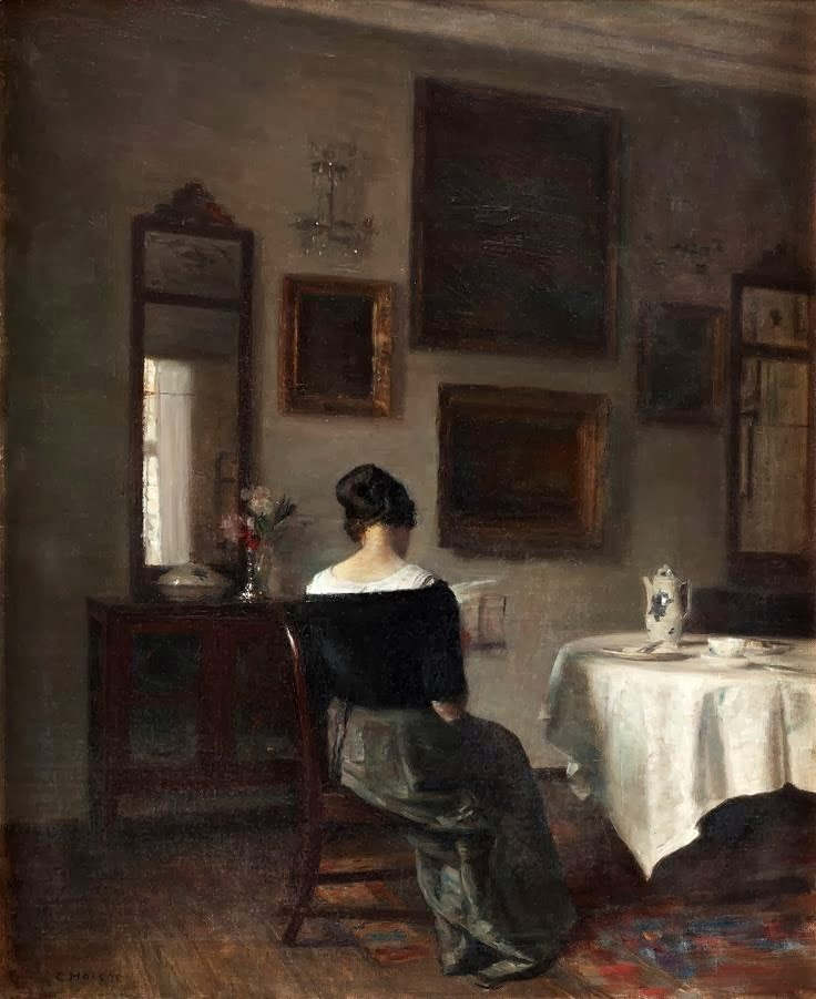 Reading and art carl holsoe for Casa art de la table