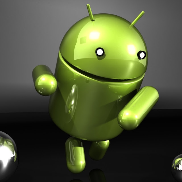 Google Android robot logo, 3D