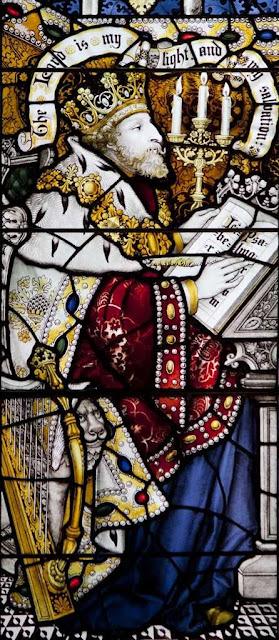 O rei David, antepasado de Jesus Cristo, catedral de Edinburgo, Escócia