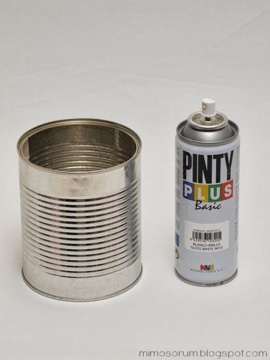 Mimosorum reciclar latas de conservas con pintura - Pintura para aluminio en spray ...