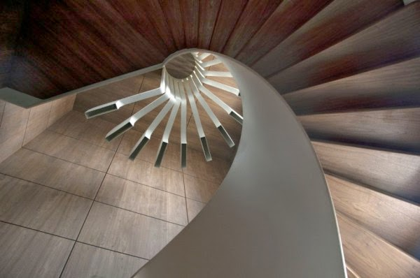 spiral staircase lighting,stair light from PSLAB