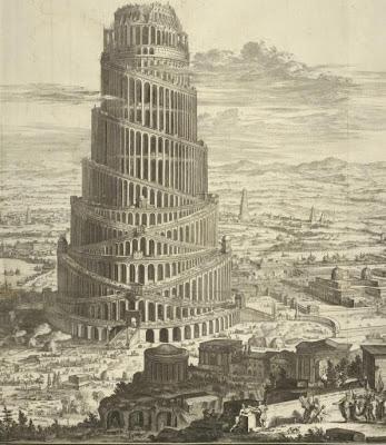 Torre de Babel. Grabado.  1670. Lacasamundo.com