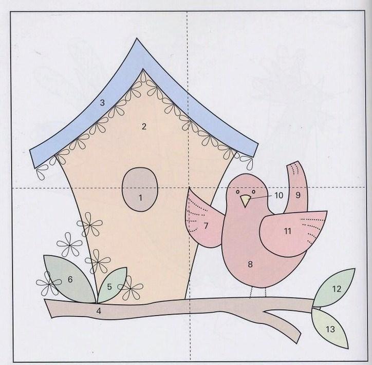 mais um aplique lindinho para seu trabalho de patchwork molde