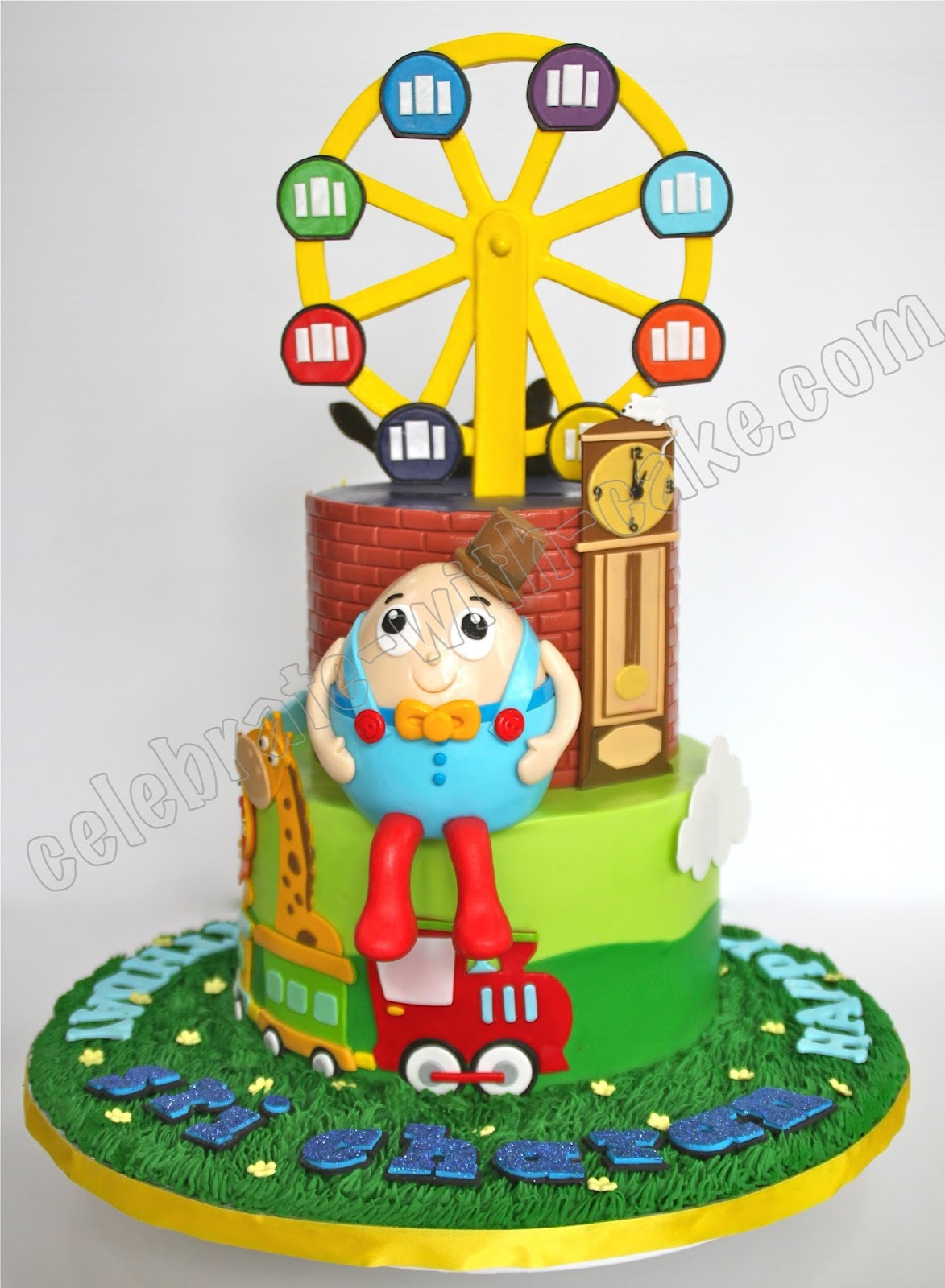 Celebrate With Cake Humpty Dumpty Ferris Wheel Animal Cake