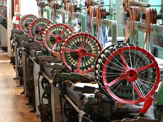 Cotton looms in a water driven mill