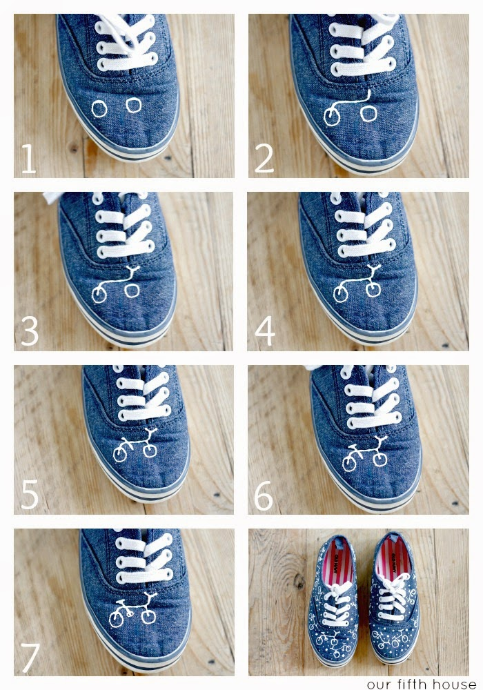 diy painted bicycle shoes tutorial