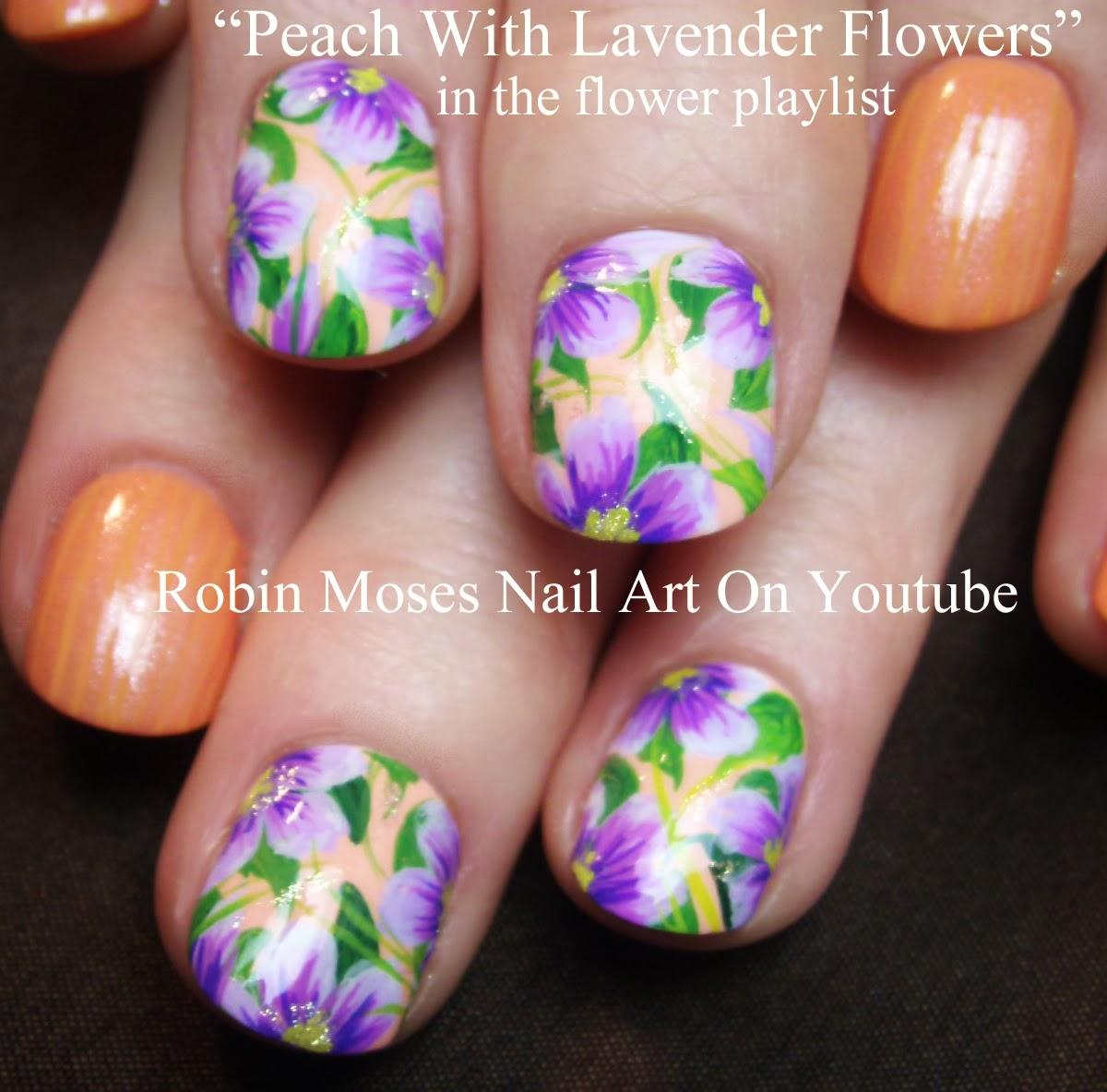 Nail Art By Robin Moses Spring Nail Art Peach Nails Nail Art