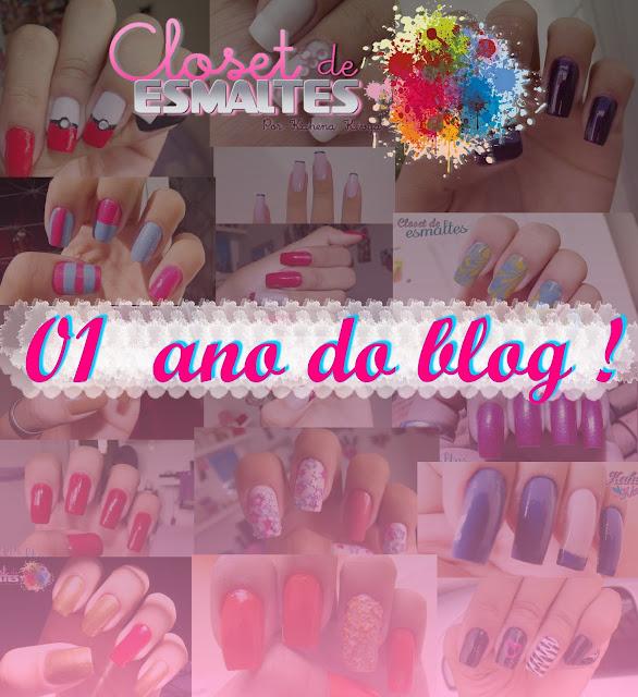 01 ano do blog - Closet de Esmaltes :)