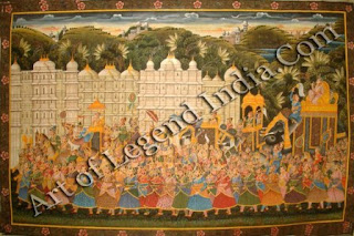 A rajputana procession