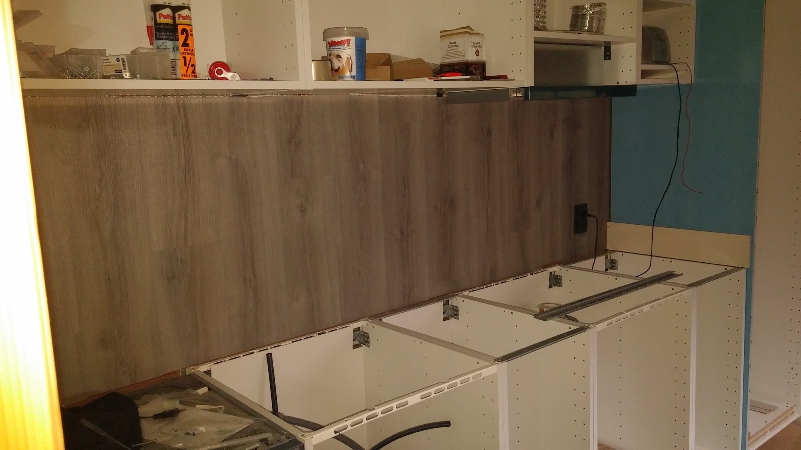 Laminaat achterwand keuken