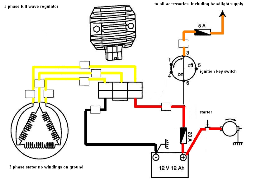 Voltage regulator a summary techy at day blogger at noon and this system can easily be distinguished by the three yellow wire sometimes three white depends on the brand of the bike when you see one then its a three asfbconference2016 Images