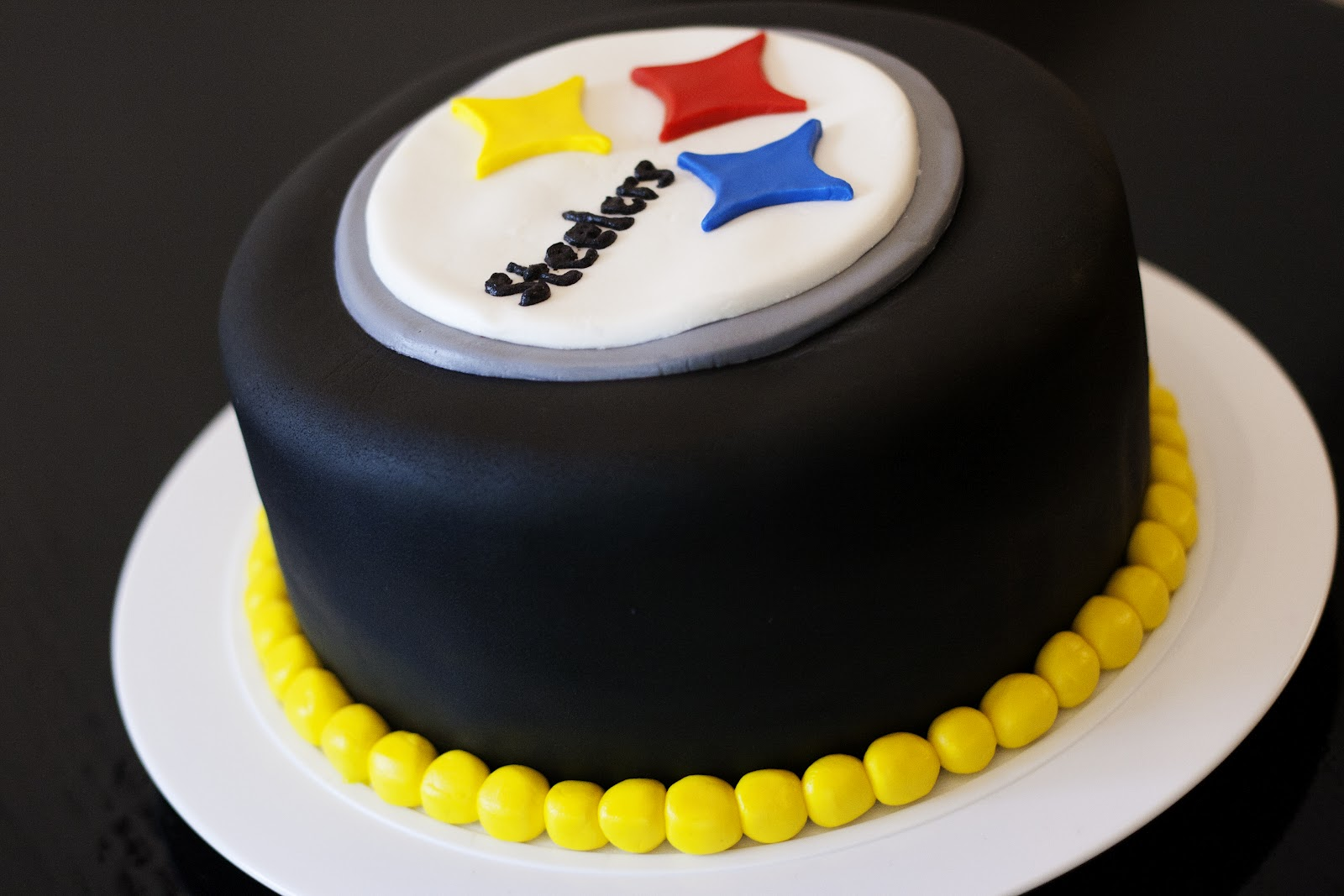 Steelers Birthday Cake. Tara, I bet you could pull this ...