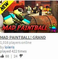 Unofficial Roblox Mad Paintball By Loleris Grand Opening Review