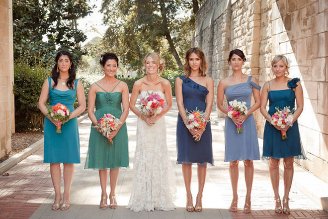 The secrets of successful mismatched bridesmaids 3 0 for What kind of shoes to wear with wedding dress