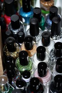 nail polish stash