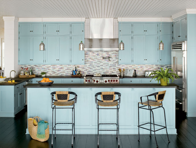 Key Interiors by Shinay Turquoise Kitchen Ideas