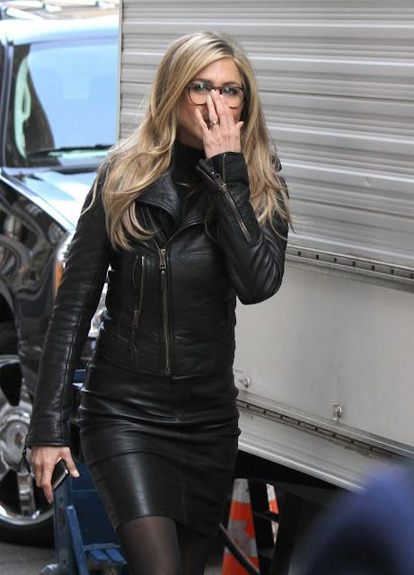 leather leather leather blog jennifer aniston leather