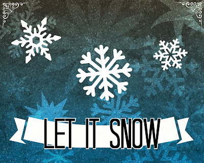 Let It Snow Free Printable at SoHeresMyLife.com. New Printable every day until December 23.