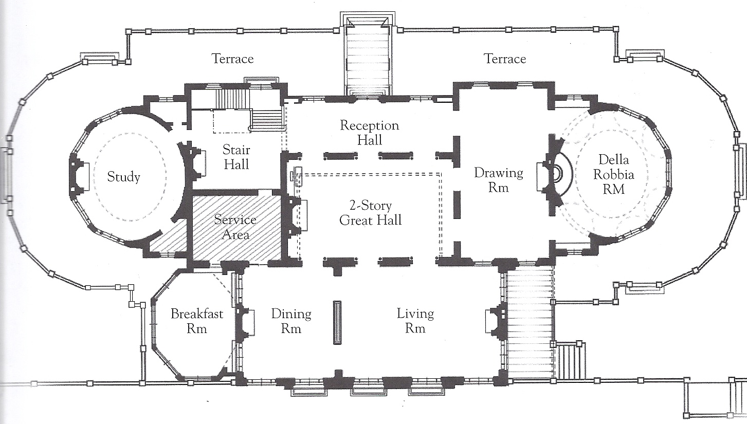 The gilded age era beacon hill house the newport Mansion floor plans