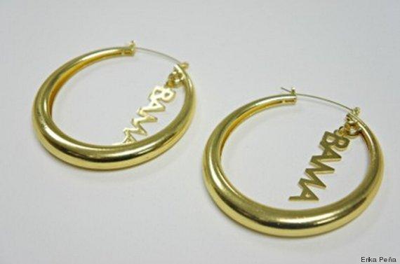 obama earrings by Erika Pena