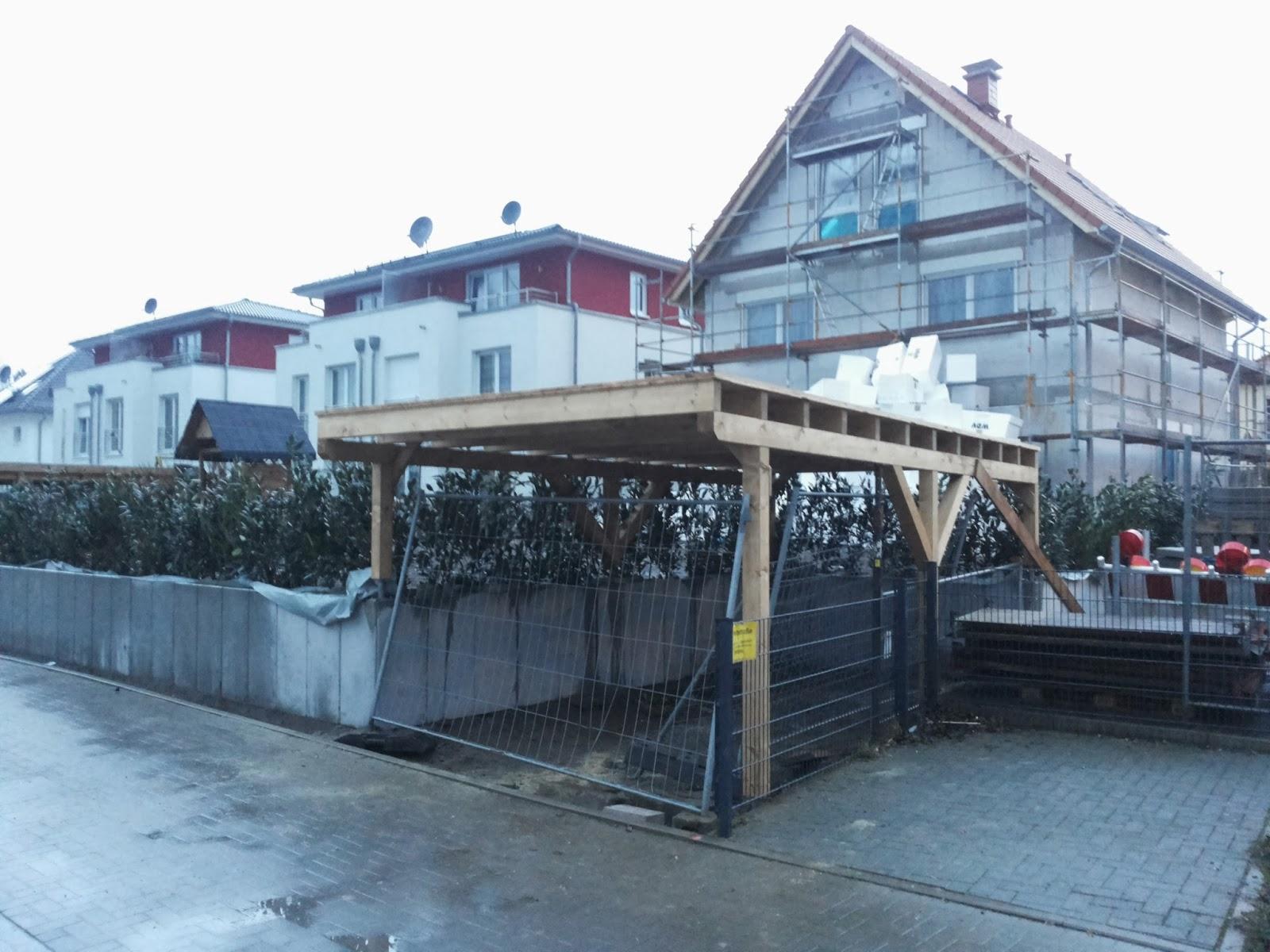 wir bauen ein zuhause der carport ist da. Black Bedroom Furniture Sets. Home Design Ideas