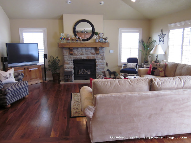 Our adventures in home improvement living room transformation for Living room with lots of seating