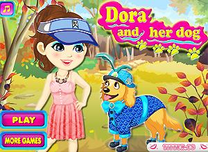 Dora e seu cachorro