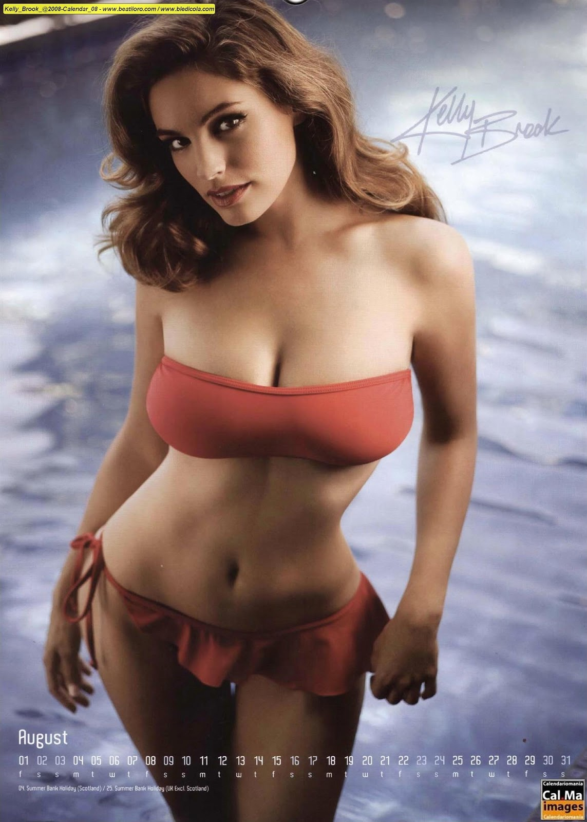 Kelly+Brook+2008+Calendar+7 18 Best Kelly Brook Photos in Swimwear