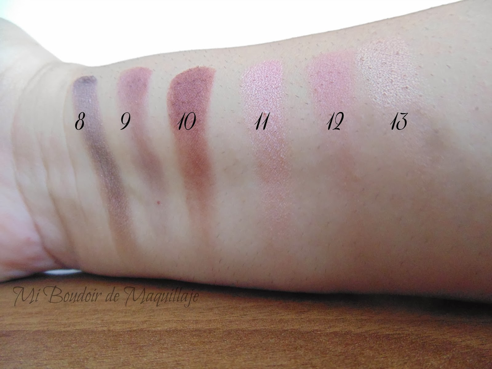swatches sombras de wet and wild